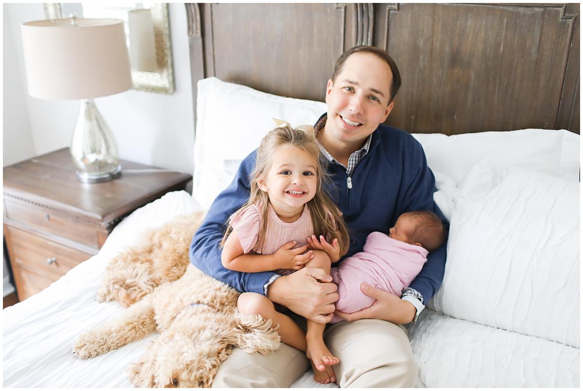Girl dad newborn photos Tampa