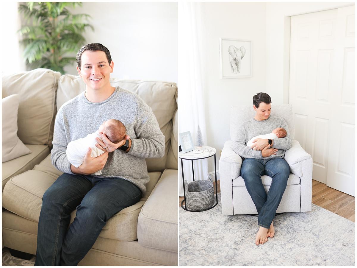 New dad family newborn photos