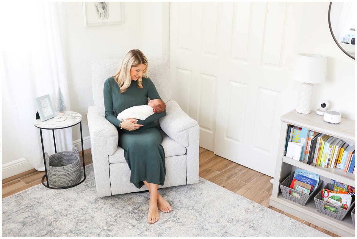 Natural light in-home newborn photos