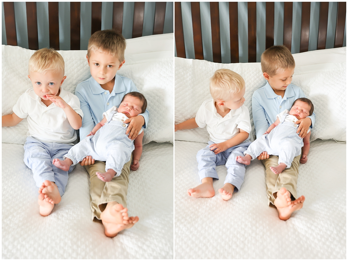 Three boys newborn session