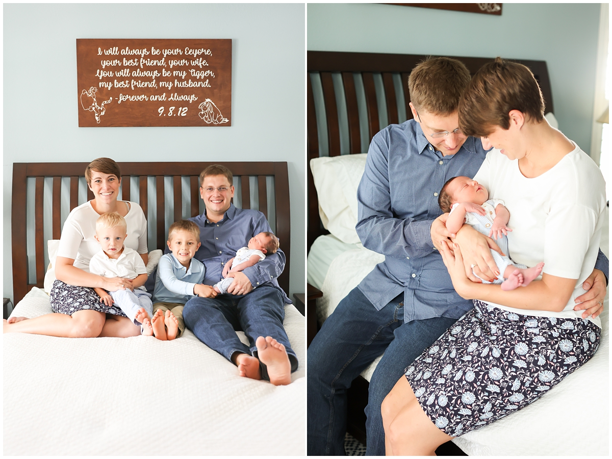 Family of five newborn photos