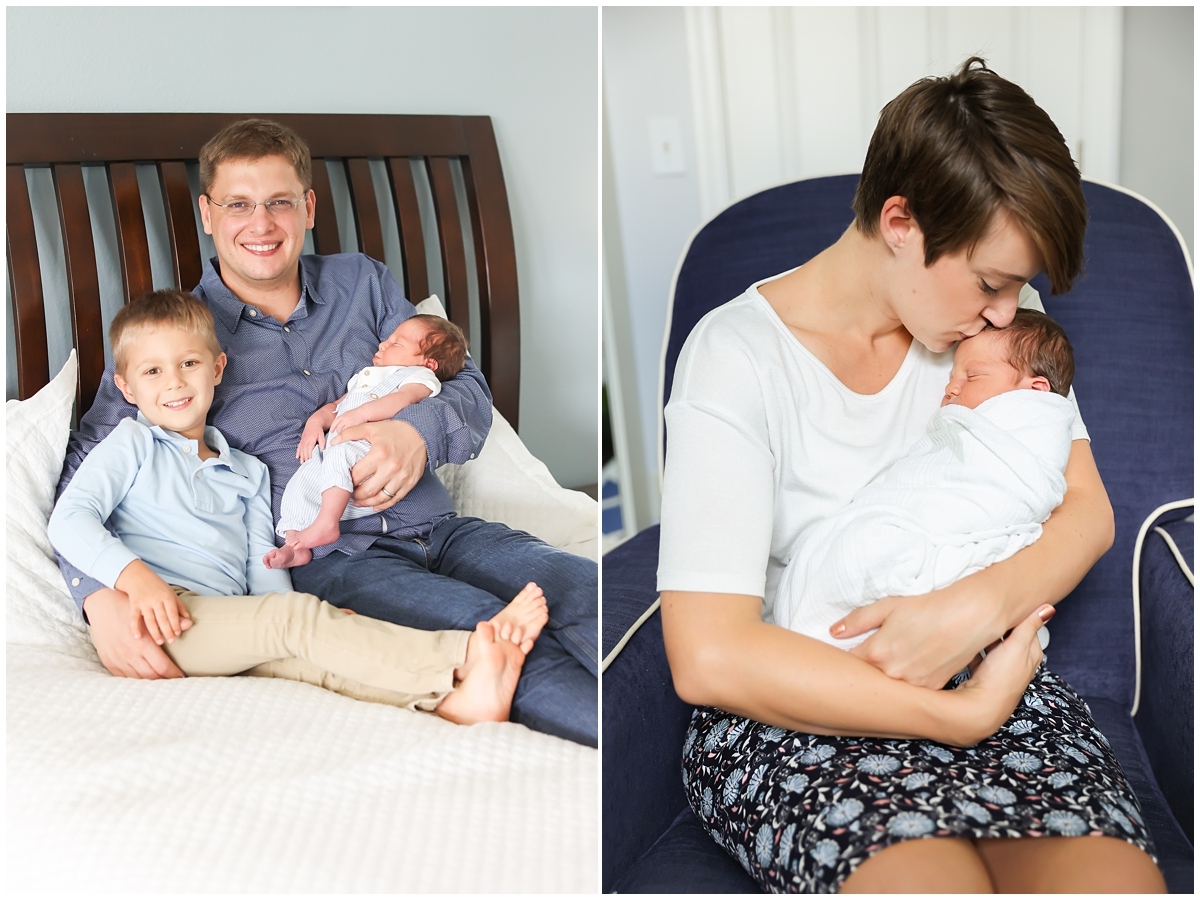 Westchase family lifestyle newborn session