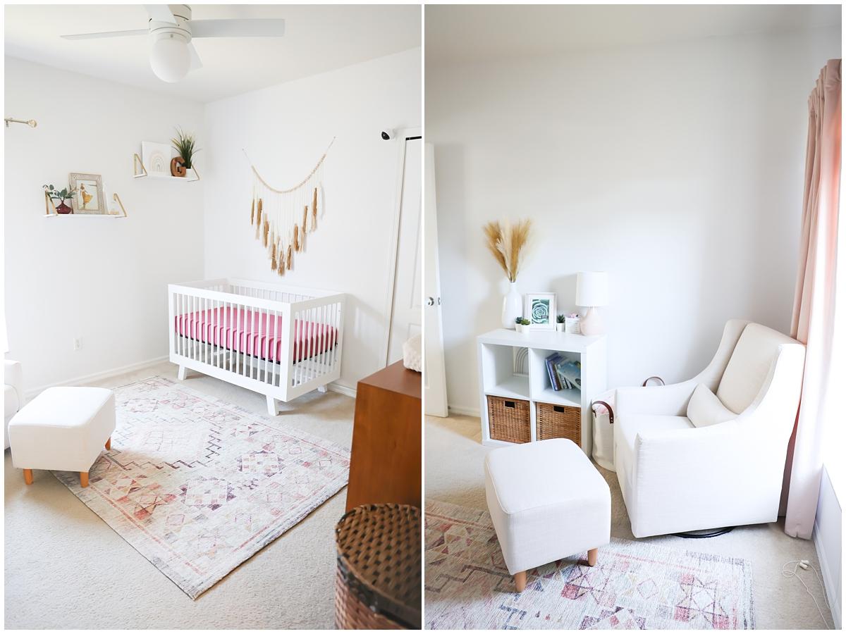 Baby girl newborn photos nursery