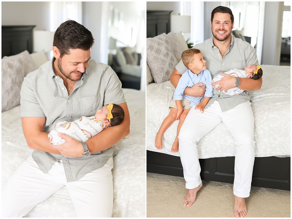 Newborn photos proud dad