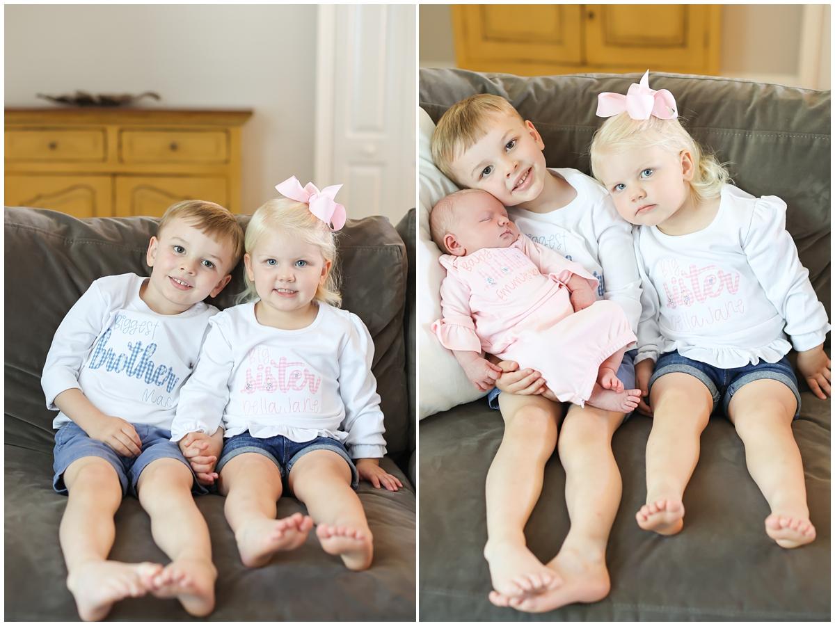 Big brother big sister newborn session